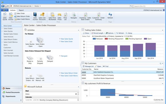 Nav 2013 Role Center for Sales Order Processor